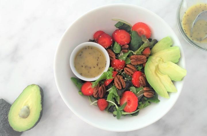 Salade fraises &pacanes